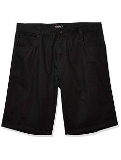 Men's Denim Solid Ziper Fly Regular Fit Shorts (ym/bt)