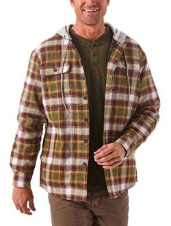 Authentics Men's Long Sleeve Plaid Shacket