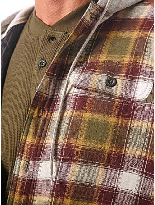 Wrangler Authentics Men's Long Sleeve Plaid Shacket