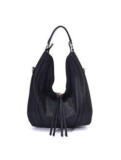Hobo Bags for Women Large Handbags Designer Purses PU Leather Oversized Crossbody Shoulder Totes Stylish