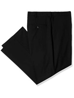 J.M. Haggar Men's Big and Tall B&t Solid Gab 4-Way Stretch Straight Fit Flat Front Pant