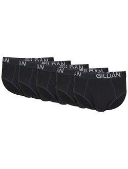 Men's Cotton Stretch Brief, Black Soot (5-pack)