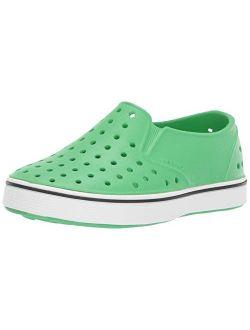 Native Kids Shoes Boy's Miles Slip-On (Toddler/Little Kid) Chartreuse Green/Shell White 9 Toddler