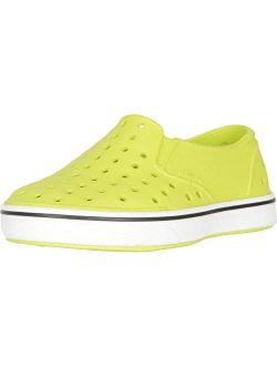 Native Kids Shoes Boy's Miles Slip-On (Toddler/Little Kid) Chartreuse Green/Shell White 8 Toddler M