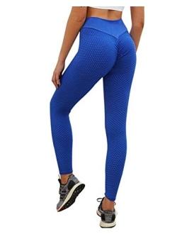 Women Scrunch Booty Leggings High Waisted Tummy Control Ruched Butt Lift Yoga Pants