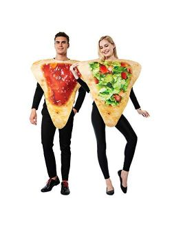 ReneeCho Adult Couple Halloween Costume Tortilla Chips Mens Food Mascot Womens Match Outfit, Couple Chip Costume - 2 Piece, One Size