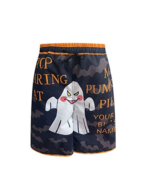 LATINDAY 2PC Funny Boxers, Novelty Boxer Beach Shorts, Humorous Underwear, for Couple