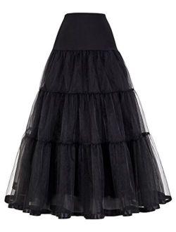 Women's Ankle Length Petticoats Wedding Slips Plus Size S-3x