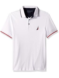Men's Classic Fit Short Sleeve Tipped Collar Polo Shirt