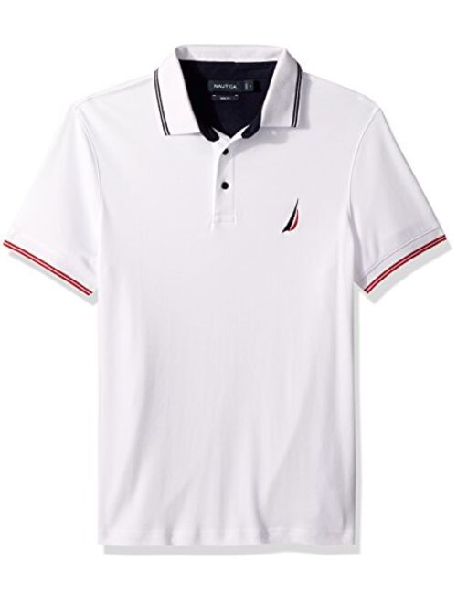 Nautica Men's Classic Fit Short Sleeve Tipped Collar Polo Shirt
