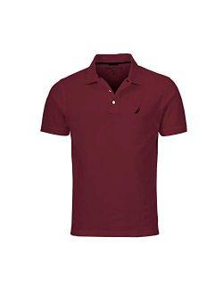 Men's Slim Fit Short Sleeve Solid Cotton Pique Polo Shirt