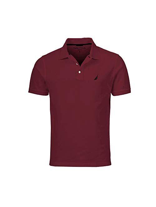 Nautica Men's Slim Fit Short Sleeve Solid Cotton Pique Polo Shirt