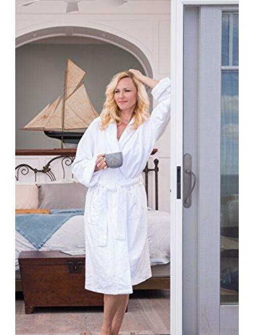 Fishers Finery Womens Premier Ecofabric Turkish Style Terry Spa Robe Ultra Plush