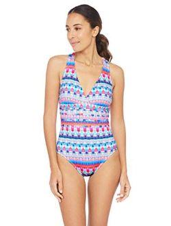 La Blanca Women's Multi Strap Cross Back One Piece Swimsuit
