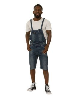 Mens Bib-Overall Shorts - Detachable Bib Denim bib-shorts Overall Shorts