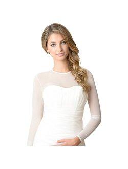 Natural (Nude) Sheer Bodysuit Bridal Cover up