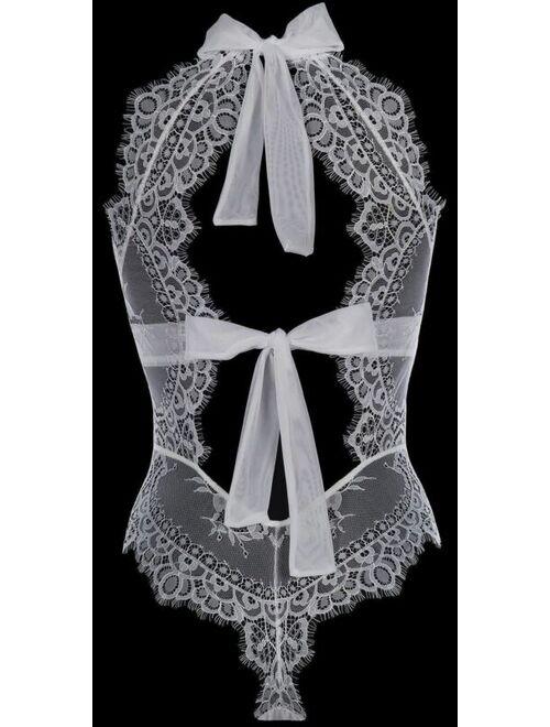 Axami Bridal Cathedral Lace Bodysuit 6990 European Lingerie