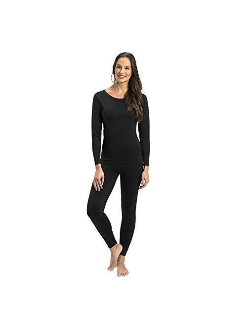 Rocky Thermal Underwear for Women Fleece Lined Thermals Women's Base Layer Long John Set