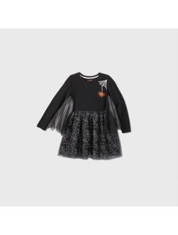 G Sleeve Spiderweb Tulle Dress - Cat & Jack Black