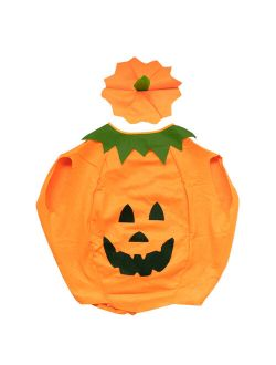 Children Halloween Pumpkin Costumes Party Fancy Dress Clothes Outfit for Kids