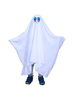 ButyHome Ghost Halloween Costume for Kids and Adults, Friendly Gown for Cosplay Role Play Halloween Child Fancy Dress Costume