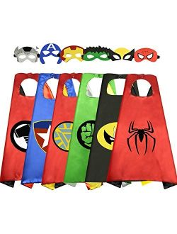 ROKO Superhero Capes for Kids Cool Halloween Costume Cosplay Festival Party Supplies Favors Dress Up Cloth Gifts for 3-12 Year Old Boys Girls Teen Toys Age 3-10 Xmas Chri