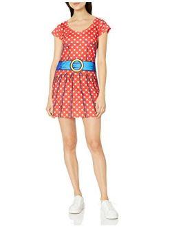 Faux Real Women's 3D Photo-Realistic Short Sleeve Halloween Dress