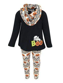 Unique Baby Girls 3 Piece Halloween Pumpkin Ghost Outfit