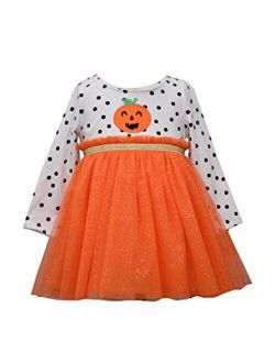 Bonnie Jean Girl's Halloween Outfit - Pumpkin Dress for Baby and Toddler Girls