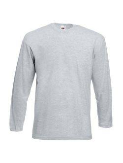 Mens Valueweight Crew Neck Long Sleeve T-shirt