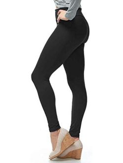LMB Womens Soft Stretch Leggings Regular/High Yoga Waist 20+ Designs One Size