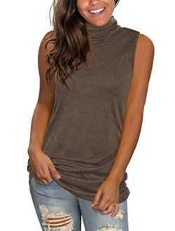 Jescakoo V Neck Tank Tops for Women Casual Sleeveless Shirts Loose Fit