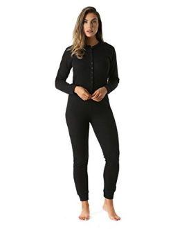 #followme Women's Thermal Henley Onesie Union Suit