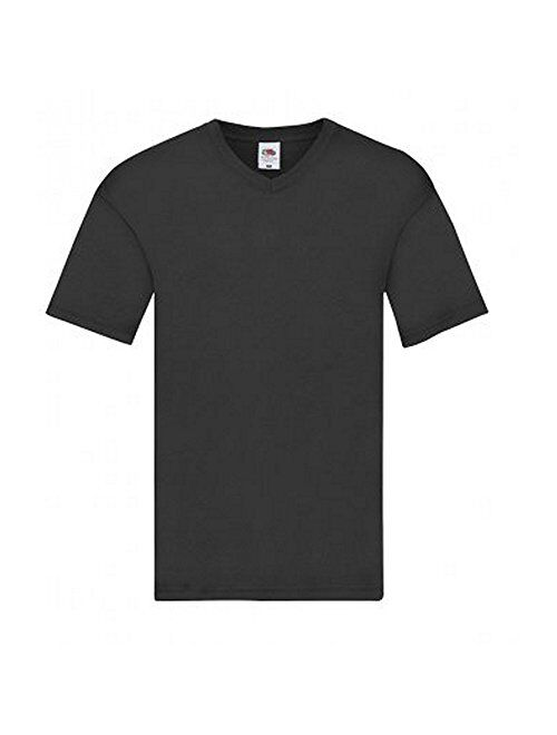 Fruit of The Loom Mens Cotton Solid Short Sleeve Original V Neck T-Shirt