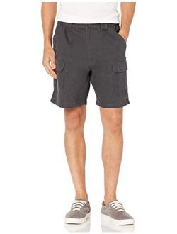 Savane Mens Denim Solid Relaxed Fit Hiking Cargo Shorts