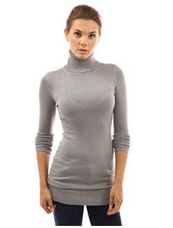 Women Turtleneck Long Sleeve Sweater