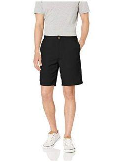 Men's Classic-fit Flat-front Linen Short-9