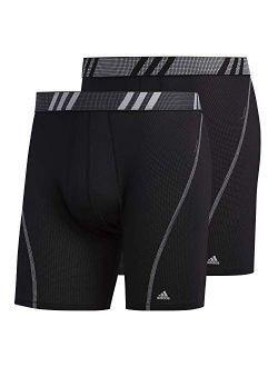 adidas Men's Performance Mesh Boxer Briefs Underwear (2-Pack)