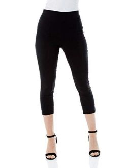 Roman Originals Women Capri Pants Cropped Trouser Stretch Legging
