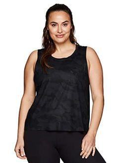 Active Women's Plus Size Sleeveless Relaxed Fashion Workout Yoga Tank Top