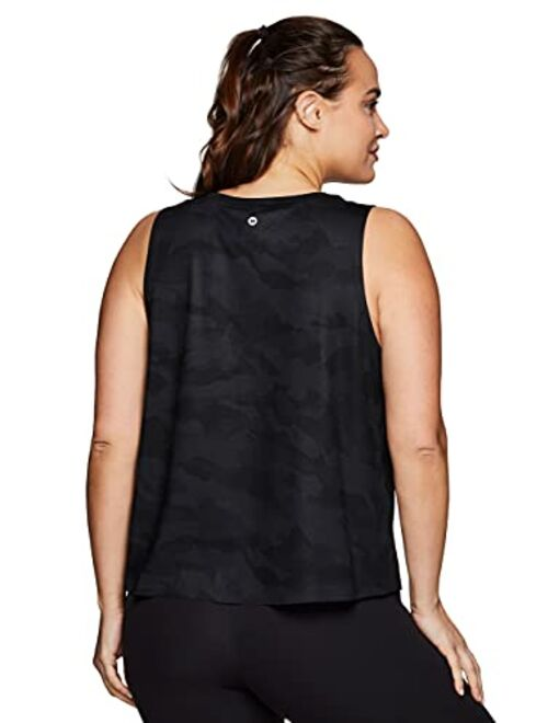 RBX Active Womens Plus Size Sleeveless Relaxed Fashion Workout Yoga Tank Top