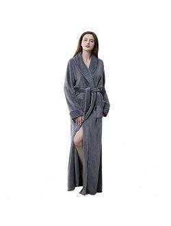 Long Bath Robe for Womens Plush Soft Fleece Bathrobes Nightgown Ladies Pajamas Sleepwear Housecoat