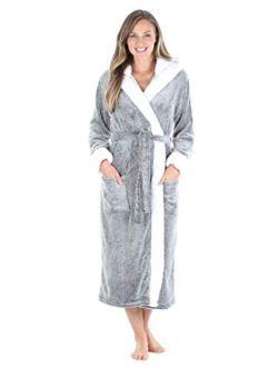 Sleepyheads Women's Fleece Long Sleeve Wrap Robe with Pockets