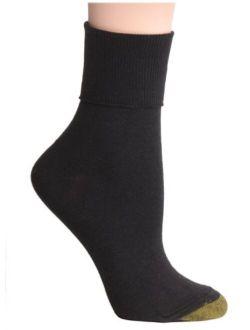Gold Toe Women's Turn-Cuff Sock, Pack of Three