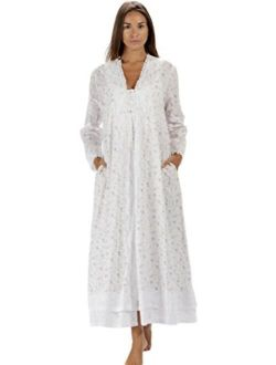 The 1 for U 100% Cotton Ladies Nightgown/Housecoat - Rosalind