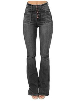 Sexyshine Women's High Waisted Skinny Destroyed Ripped Hole Denim Pants Long Stretch Pencil Jeans