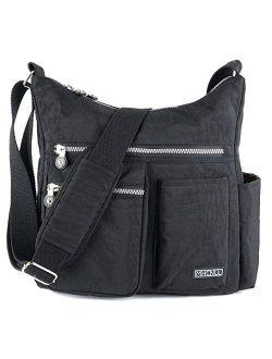 Crossbody Bag with Anti Theft RFID Pocket - Women Lightweight Water-Resistant Purse