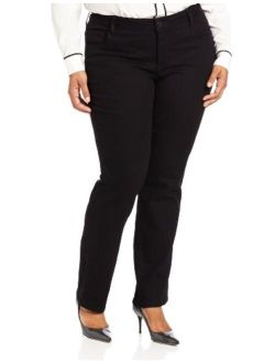Women's Plus Size Instantly Slims Classic Relaxed Fit Monroe Straight Leg Jean
