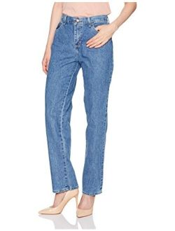 Women's Misses Relaxed Fit All Cotton Straight Leg Jean