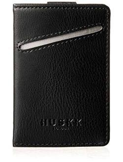 Men Wallet - RFID Minimalist Slim Front Pocket Card Travel Holder Clip